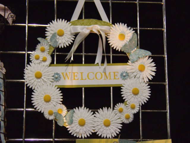 Big shot daisies wreath