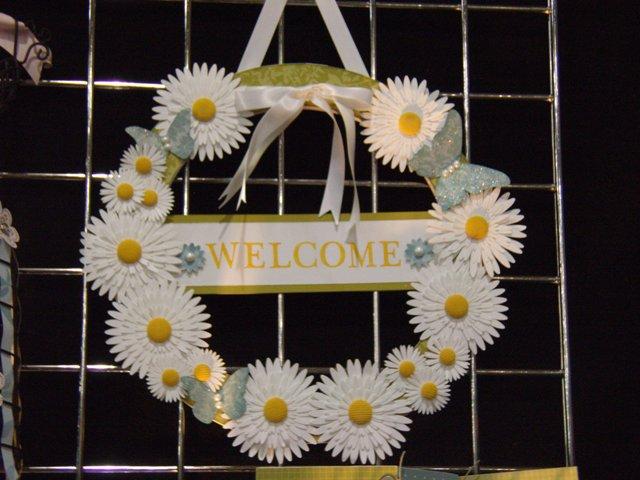 Big shot daisies wreath