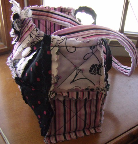 Purse pink and black