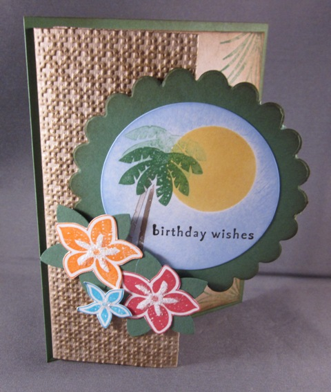 Tropical gift card