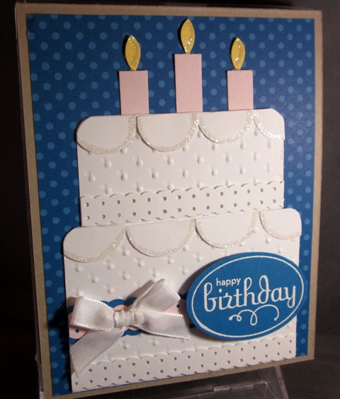 Скрапбукинг открытка торт, поросенок