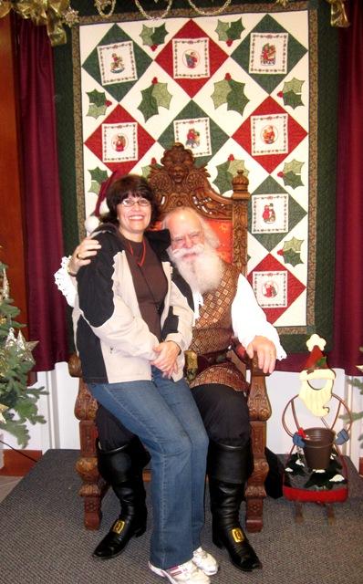 Me on Santa's knee