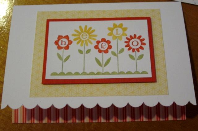 Hello blossoms notecard