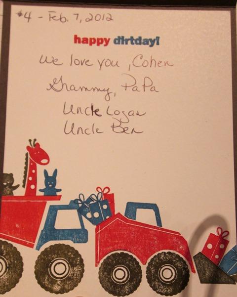 Cohen's birthday card 3