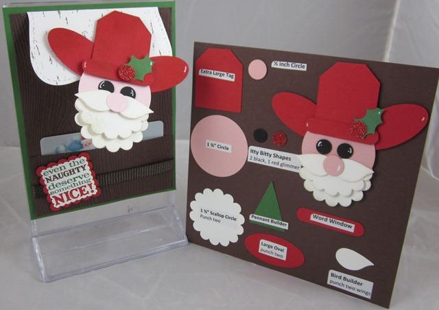 Cowboy santa card & page