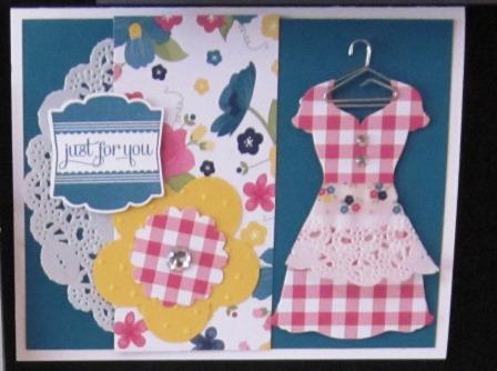 Gingham garden apron