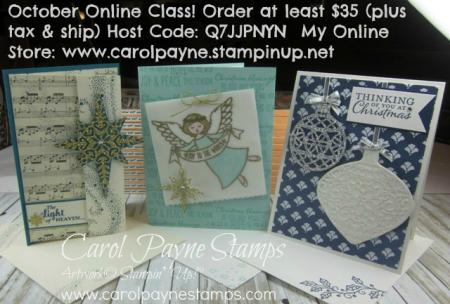 October Online Class carol paynestamps