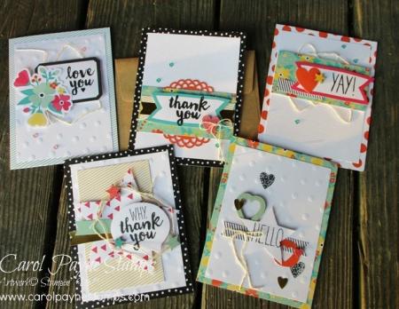 Stampin up oh happy day card kit carolpaynestamps1