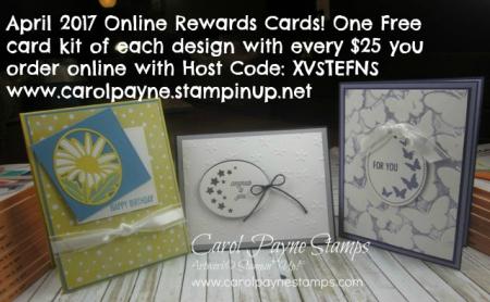 April Online Rewards