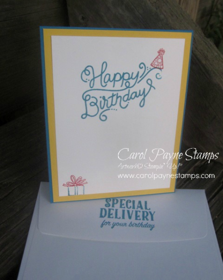 Stampingroxmyfuzzybluesox stampin 39 up birthday delivery for Waterfall delivery