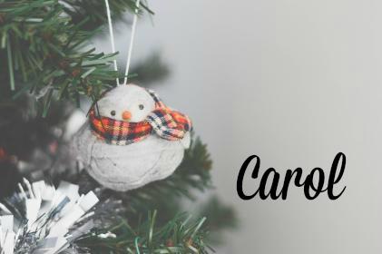 Snowman ornament carol payne stamps