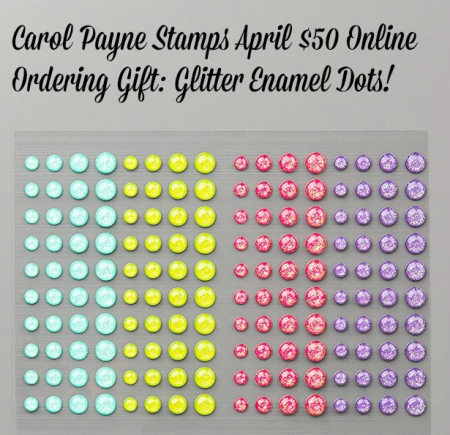 April gift glitter enamel dots