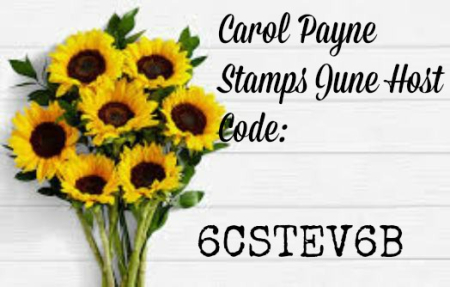 June 2020 Carol Payne Stamps Host Code