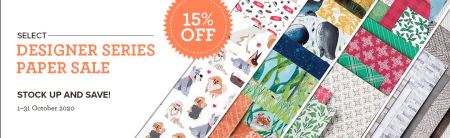 October 2020 Designer Series Paper Sale