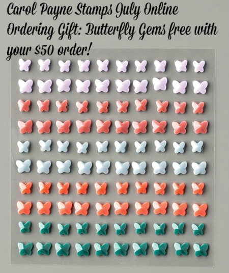 Butterfly Gems july online gift carol payne stamps