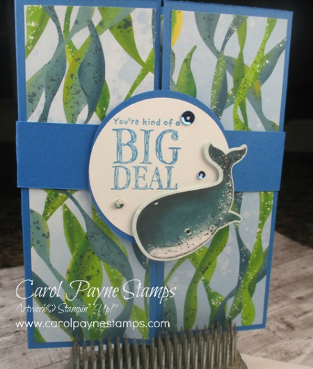 July Card of the Month carol payne stamps