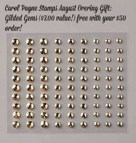 August Online Ordering Gift Gilded Gems